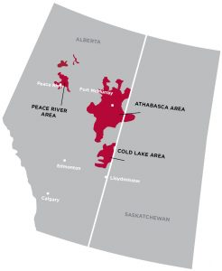 Oil Sands Deposits Map